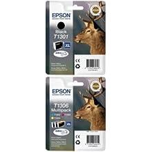 Epson T1301/T1306 Ink Cartridge, Black, Pack of 4, Genuine, Amazon Dash Replenishment Ready