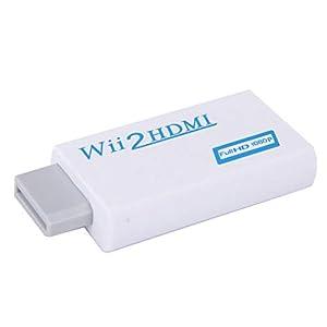 Wii HDMI Adapter extra 3,5mm Buchse Audioausgang -skaliert Das Wii Signal auf 720p/ 1080p