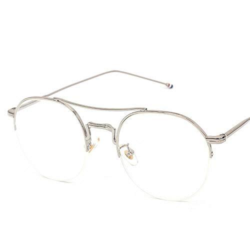 WULE-RYP Polarisierte Sonnenbrille mit UV-Schutz Mädchen/Frauen Metallhalbrahmen Flache Gläser Leichte Brillen ohne Brillen mit klaren Linsen. Superleichtes Rahmen-Fischen, das Golf fährt