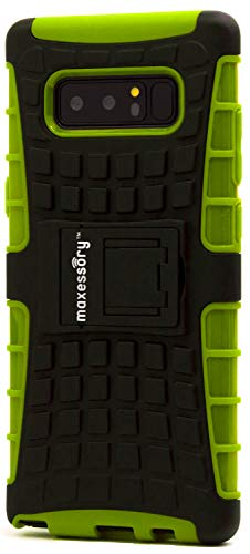 Galaxy Note 8Schutzhülle, maxessory [Offroad] stoßfest Robuste, zweilagige Armor starr-Ständer Hard Schutzhülle Tough Hybrid Handy Cover Shell Eltern für Samsung Galaxy Note 8, Lime Green Black - Galaxy Note Samsung 3 Tmobile