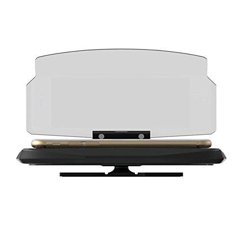 Head Up Display, Chengstore Voiture HUD Navigation GPS écran Vidéoprojecteur téléphone portable support de montage support pour smartphone de 16,5cm