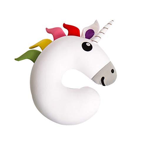 Almohada de Viaje Cuello Cervical Unicornio reposa Cabezas, Regalos para Coche viajeros, Avion, Infantiles...