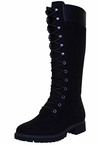 Timberland 8167R Womens Nubuck Leather Knee High 14 inch Lace Up Boots Uk Size  4 5 UK  Black FV1