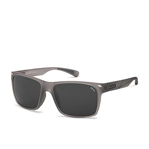 Zeal Boone Sunglasses One Size Matte Black ~ Dark Grey Polarized