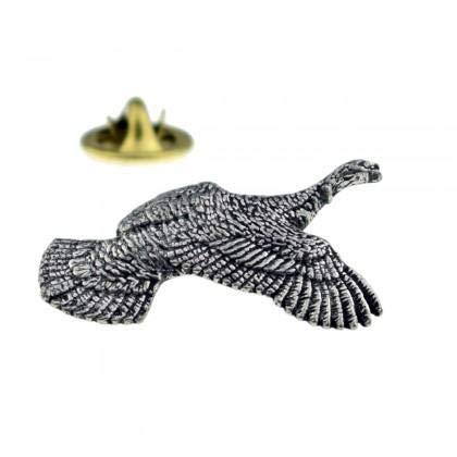 Ashton and Finch Die Türkei-Fliegen-Vogel-englisches Zinn-Revers Anstecknadel