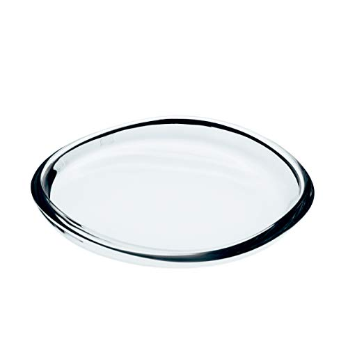 INNA Glas - Assiette / Coupe en verre BORNA, transparent, 2,5 cm, Ø 21,5 cm - Coupelle décorative / Coupelle apéritif