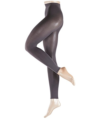 Esprit Damen Leggings Cotton 1 Paar - 58% Baumwolle - grau - Größe 40-42 Blickdicht -Leggins Damenleggings