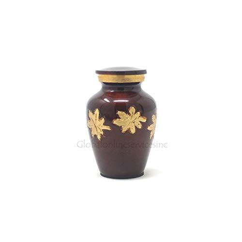 Cremationurnsashes Mini-Urne für Asche mit fallenden Blättern -