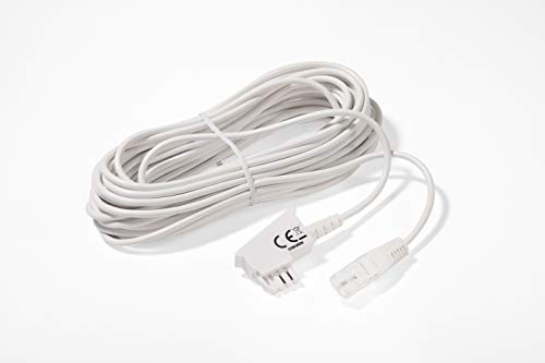 COXBOX 10m Weiss VDSL ADSL Kabel für den IP basierten DSL Anschluss TAE RJ45 VoiP Fritzbox Speedport
