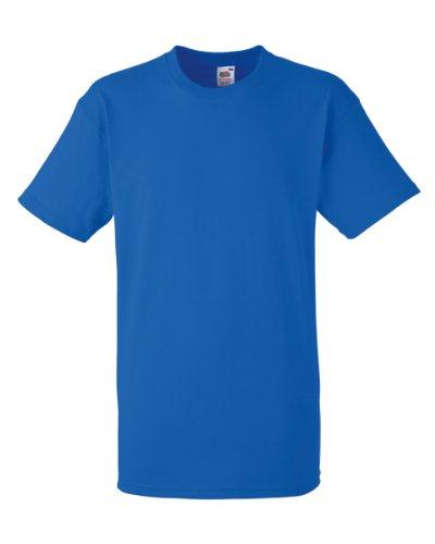 Fruit of the Loom Herren T-Shirt, uni, schwere Baumwollqualität Blau -  Königsblau