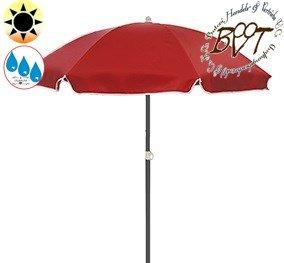 Großer Sonnenschirm UV50+sonnendicht, 180 cm / Ø 1,80 m (rot terrakotta), Sonnendach Schirm, XXL Strandschirm, 8-teilig / 8-eckig massiv robust, Strandschirm, XXL-Klappschirm, Gartenschirm extrem wetterfest, klappbar, tragbar, seewasserfest, hochwertig robust stabil, Sonnenschutz, stabiler Schirm Klappschirm, dunkelrot terrakotta , Strandschirme, Sonnenschirme, Sonnenschirm-Tische, Regenschirm Picknickschirme, Gartenmöbel Holz