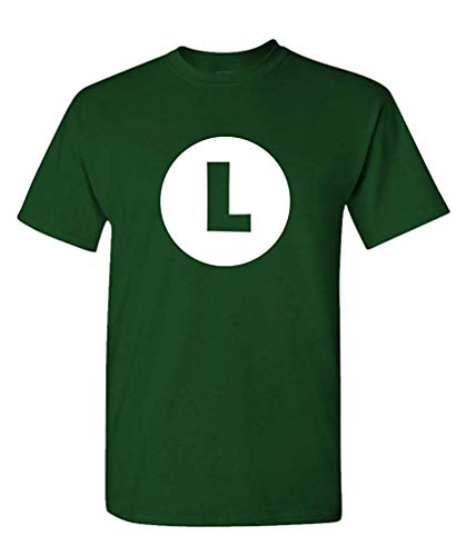 Mädchen Kostüm Taucher - Luigi - Video Game Costume Halloween Funny - Mens Cotton T-Shirt M