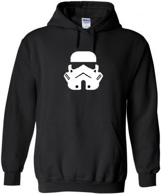 Star and Stripes Trooper Black Hoodie All Size Free Delivery - Kids 12/13 Yrs