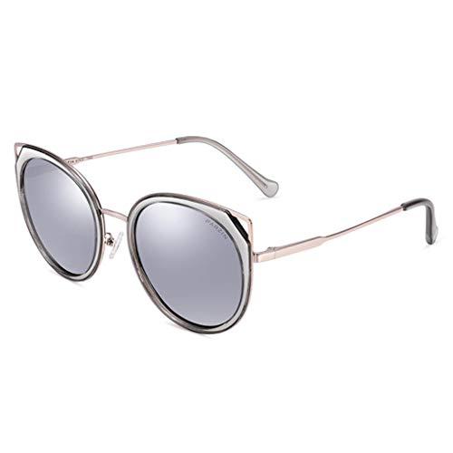 KISlink Sonnenbrille Damen Polarisierter Rahmen Verspiegelte Cat Eye Sonnenbrille Brillen (Farbe: C)