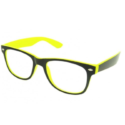 NEW UNISEX (Damen Herren) gelb Lesebrille +1.5 Retro Vintage Brille SUNGLASSES Shades UV400 Protection Morefaz(TM) (Lesebrille + 1.5 gelb)