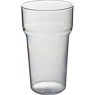 Set of 6 Roltex Unbreakable Reusable Polycarbonate Plastic Tulip Shaped ONE PINT Stacking Beer glasses
