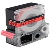 Original Epson C53S627400 / LC-6RBP9 cinta (negro, rojo, 9 m x 24 mm) para LabelWorks 900, LW-700, LW-900
