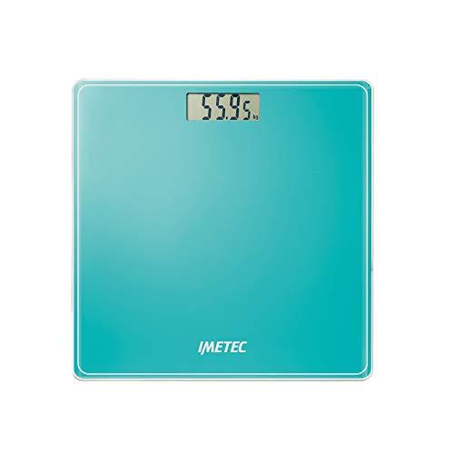 Imetec Precision ES13 200 Bilancia Pesapersone Elettronica, Rivela anche le Minime Variazioni di Peso, fino a 180 Kg, LCD Display, Vetro Temperato, Verde Acqua