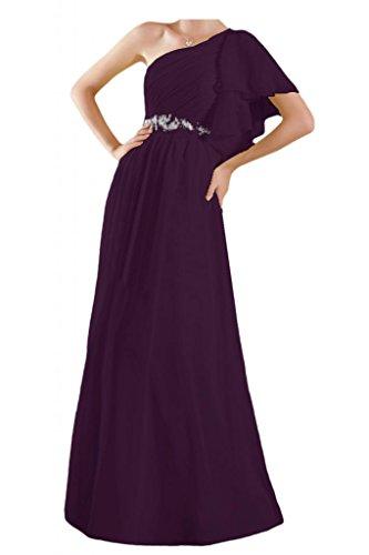 Toscana sposa adorabile la-spalla abiti da sera Chiffon lungo prom dress sfera damigella d'onore del partito Uva
