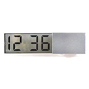 ZHIXX MALL Mini Digital LCD Auto PKW LKW Armaturenbrett Uhr/Thermometer Autouhr