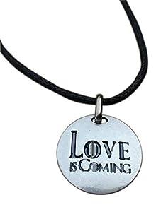 juegos despedida de soltera originales: Love is Coming, Colgante chapado plata. Se acerca el Amor: Juego de Tronos inspi...