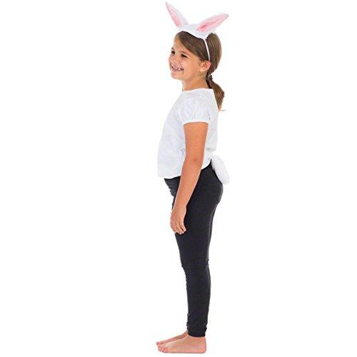 Hase / Kaninchen Ohren Und Schwanz Für Kinder -