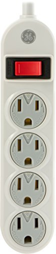 Power Cord Cover (GE 14837 Power Strip, 4 Outlets with Safety Covers and 1.5-Feet Cord, White by GE)