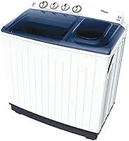 Super General KSGW1252 Twin Tub Semi Automatic Washing Machine, 12 kg Capacity, White