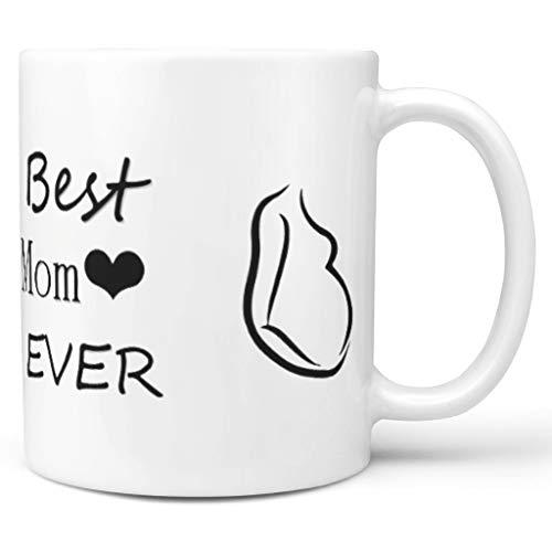 O4EC2-8 Die Beste Mutter Aller Zeiten Mischen Tee Becher mit Griff Keramik Retro Mug - Schwangere Mutter Geschenke Klassenkamerad Geschenke, Geeignet für Tochter verwenden 11 oz white2 330ml