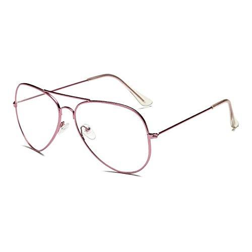 ProProCo Aviator Fashion Brille - Aviator Brille ohne Stärke für Damen und Herren - Unisex...