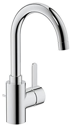 GROHE 32830000 Eurosmart Cosmopolitan Bathroom Tap (Pop-Up Waste, High Spout and 100 Degree Swivel Range)