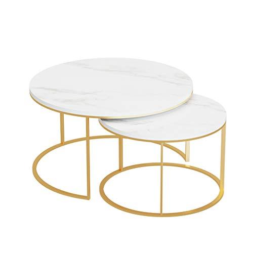 Ufficio Soggiorno Tavoli da Cocktail Tavolino da Salotto in Marmo a 3 Colori tavolino//tavolino//Snack//tavolino con Marmo per la casa