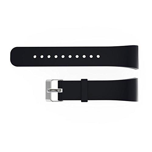 V.one Silikon Sport Armband Band Uhrenarmband Erstatzband mit Stiftschließe aus Edelstahl für Samsung Gear Fit 2 - Gear S Für X Uhrenarmbänder Große