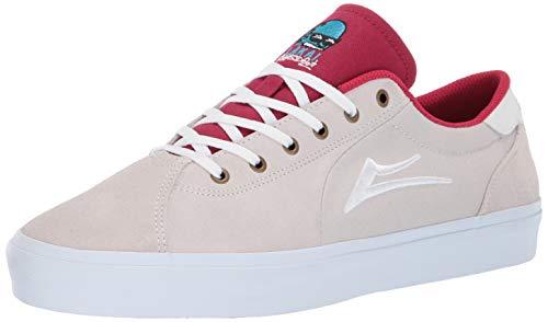 Lakai Footwear Flaco II - Scarpe da Tennis Globosize, Bianco/Rosso, Bianco (White/Red Globo), 46 EU