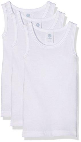 Sanetta Jungen Unterhemd 333735, 3er Pack, Weiß (White 10), 128 (Unterhemd Jungen)