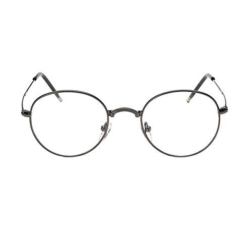 HPTAX-VB Spiegeln Eyewear Rahmen Frauen Männer Metall Runde Rahmen Vintage Optische Gläser Harz Retro Eyewear Zubehör Gläser