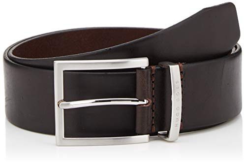 BOSS Herren Buddy Gürtel, Braun (Dark Brown 202), 100 - Boss Braun Hugo Leder