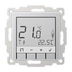 Jung Raumtemperaturregler Stdrd TR D A 231 AL aluminium Serie A;Temperatur-Management Raumtemperaturregler 4011377126565