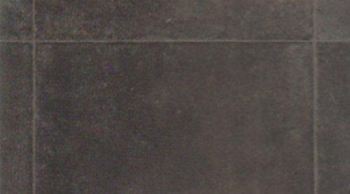 Gerflor TEXLINEu00ae PVC Vinyl Bodenbelag - 1980 Colorado Dark Grey Linoleum Rolle Fußbodenbelag Vinylbahnen Steindekor, Fliesenoptik - Breite 4m