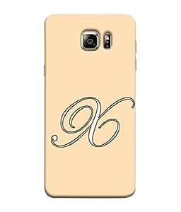 PrintVisa Designer Back Case Cover for Samsung Galaxy S6 G920I :: Samsung Galaxy S6 G9200 G9208 G9208/Ss G9209 G920A G920F G920Fd G920S G920T (Alphabet X in cursive wheat pink colour)