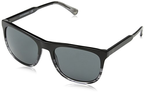 Emporio armani 0ea4099 occhiali da sole, nero (black/tr striped grey), 56 uomo