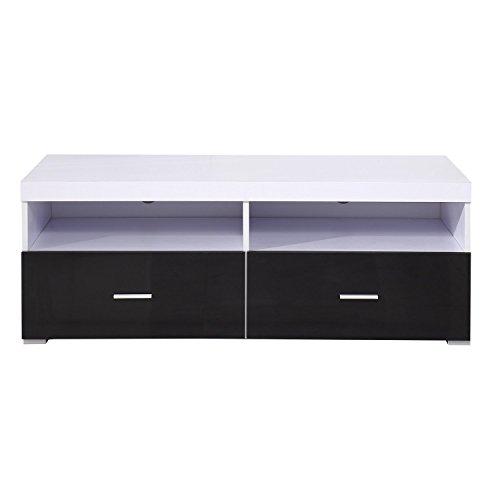 Homcom 833-008 Fernsehtisch, Holz, weiß, 115 x 55 x 42 cm