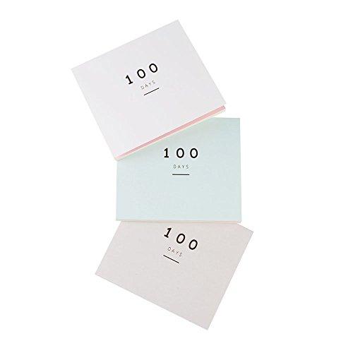 100Tage, Planer, tägliche & wöchentliche und monatliche Plan Organizer, leicht, klein Notebook einfach zu Take, 3Farben (Täglich Wöchentlich Monatlich Planer)