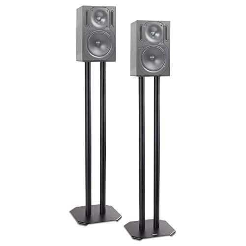 Duronic SPS1022 - 80 Twin Lautsprecherständer Schwarze Metall Basis / 80 cm Höhe/geeignet für Lautsprecher - Hi-Fi und Heimkinoanlagen