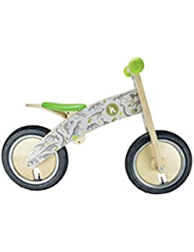 Kiddimoto Kurve Niños Ciudad Madera Verde, Color blanco bicicletta - Bicicleta (Ciudad, Madera, Verde, Color blanco...