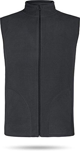Herren Fleeceweste Bodywarmer Outdoor Kälteschutzweste [S-XXL] Farbe Grau Größe M