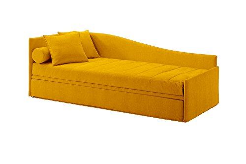 Ponti Divani Cama individual con cama extraíble, incluido dos colchones! Tapicería de...