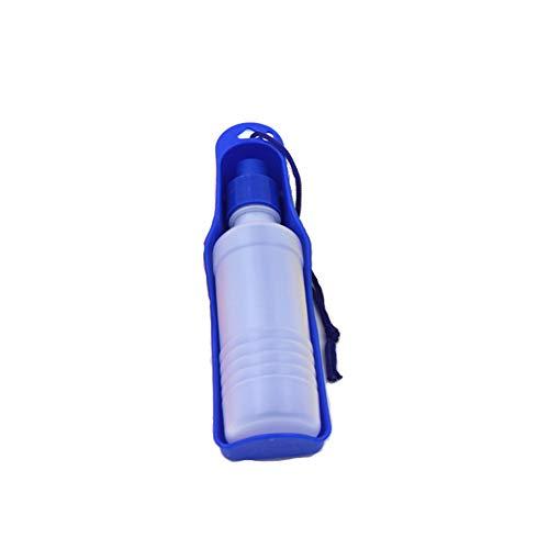 EisEyen Hund Katze Trinkwasserflasche Wasserspender Trinkflasche mit Trinknapf 250ml/500ml Rosa/Rot/Blau/Grün
