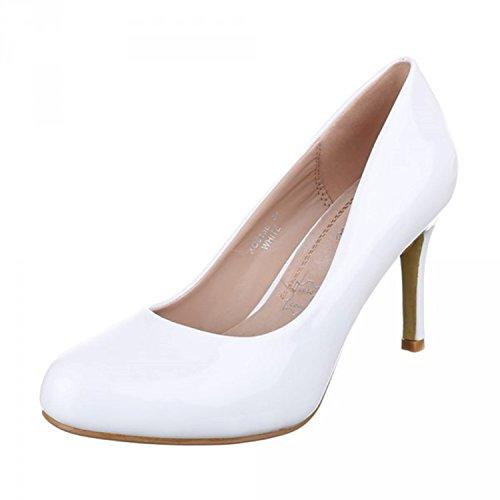 Bombas À Noite Casamento Clássicas Festa Estiletes Brilhantes Pintar Senhoras De Branco Xq Sapatos FAEqBw