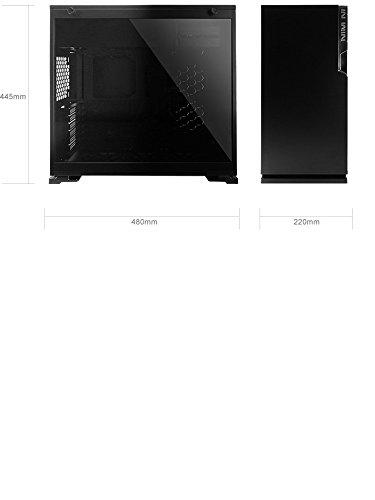 In Win 101C Midi-Tower Negro Carcasa de Ordenador - Caja de Ordenador (Midi-Tower, PC, Acrilonitrilo butadieno estireno (ABS), SECC, Vidrio Templado, ATX,Micro-ATX,Mini-ITX, Negro, Multi)